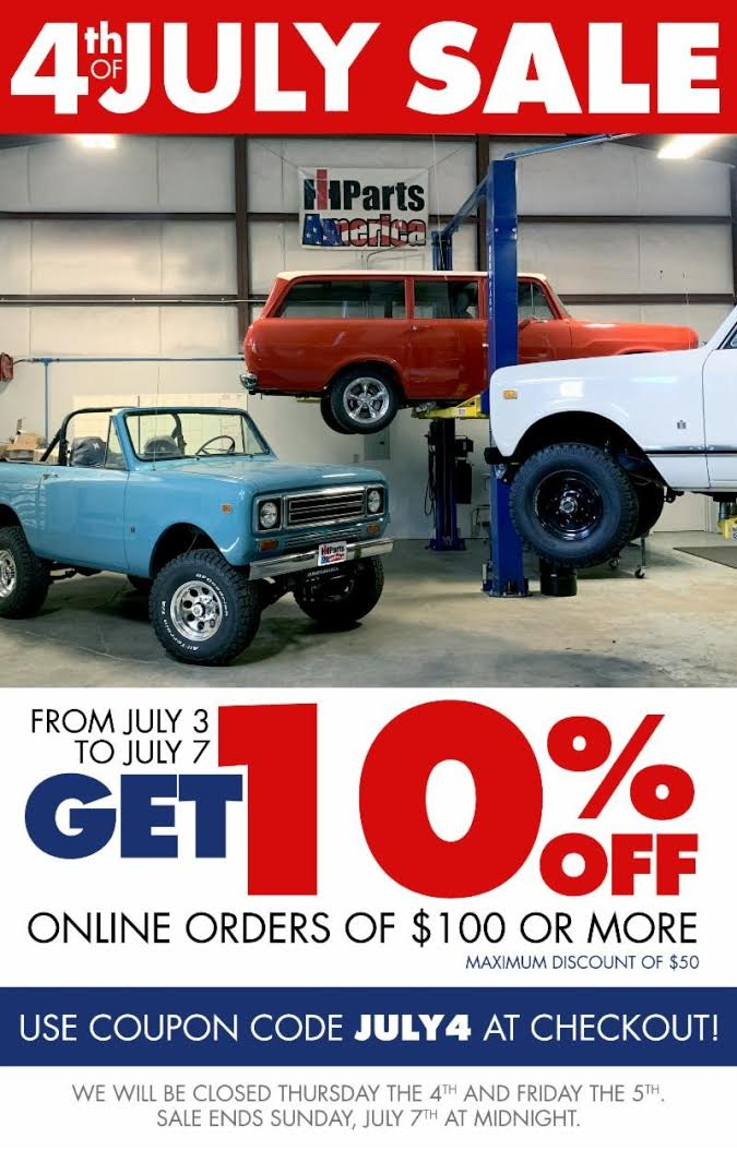 Ih Parts America Store International Scout Parts